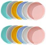 Greyoe Plato para Maceta, Platillo Maceta Plastico, Bandeja para Macetas de 12 Piezas en 6 Colores para Jardinería Interior Y Exterior con Suculentas