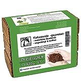 Humusziegel - 27 L Tierra de Coco para Plantas - 3 x 650 g - Sustrato de Fibra de Coco Prensada para Macetas - Ladrillo de Coco - Tierra para Plantas Interior/Exterior