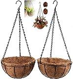 Maceta Colgante Coco Pack 2 Decoración Jardín Macetas para Colgar Tiestos para Plantas Macetas Decorativas Cesta Colgante Maceta Interior Macetas Originales