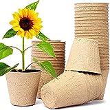 Maceta Ecológica, Biodegradables para Plantas, Seguro y Transpirable Puede Crear un Entorno Ecológico Favorable para Las Plántulas(100 Pcs)