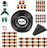 FIXKIT 30M Kit de Riego, Sistema de Riego, Adecuado para Riego de Jardines y Bricolaje, con Rociador Automático