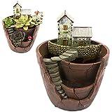 Xueliee Creative plantes Pot de fleurs Fleur plantes artificielles DIY à nourriture décoré avec mini à suspendre Fée Jardin et maison de Sweet pour décoration de vacances et cadeau